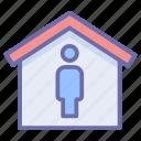 corona, coronavirus, isolation, property, quarantine, stay at home icon