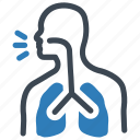 breath, corona, corona breath, coronavirus, disease, lungs icon
