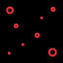 coronavirus, spread, world icon