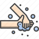 alcohol, clean, gesture, hand, hygiene, soap, wash icon