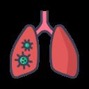 coronavirus, covid, lungs, pneumonia icon