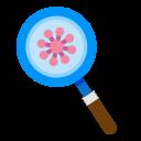 devirus, glass, interfac, magnifying, virus