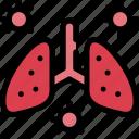coronavirus, disease, lungs, pneumonia icon