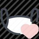 mask, visor, protection, heart, favorite, coronavirus, covid