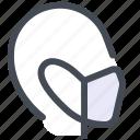 person, mask, protection, visor, cover, coronavirus, covid
