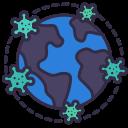 coronavirus, covid, diffuse, disease, earth, epidemic, pandemic icon