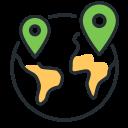 data, globe, spread, world icon