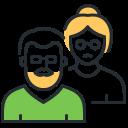 coronavirus, elderly people, risk group, senior icon