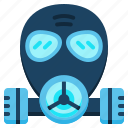 gas mask, mask, respirator icon