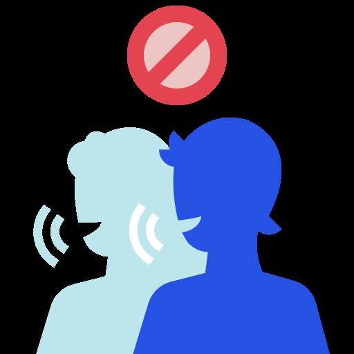 avoid, disinformation, rumors, spread icon