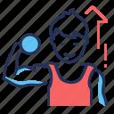 boy, exercise, fitness, workout icon