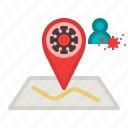 area, check in, location, map, pin, zone