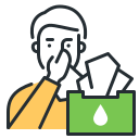 coronavirus, respiratory hygiene, sneeze, tissue icon