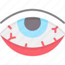 conjunctivitis, red eyes, eyes, symptom, allergy, eye, allergic icon