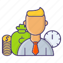 corporate, employee, payment, wages icon