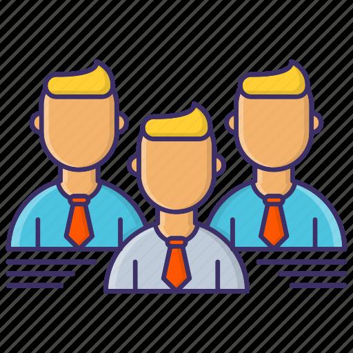 corporate, leader, leadership, team icon