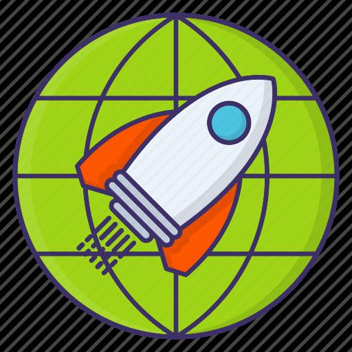 Goal, mission, rocket, startup, target icon - Download on Iconfinder