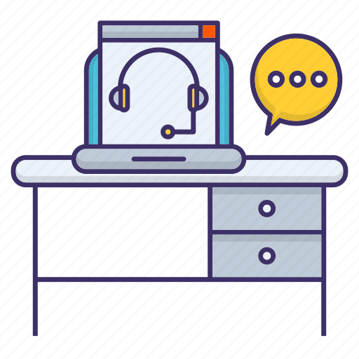 Consulting, corporate, desk, online, support icon - Download on Iconfinder