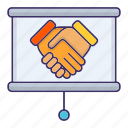 contract, corporate, deal, handshake, partneship icon