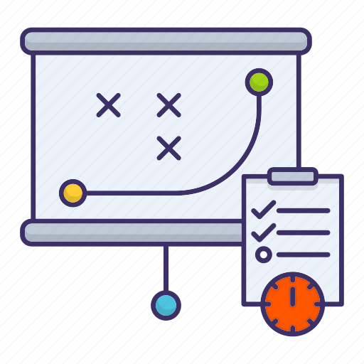 Management, planning, plan, strategy icon