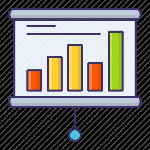 Chart, presentation, report, seminar icon - Download on Iconfinder