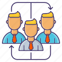corporate, group, team, teamwork icon