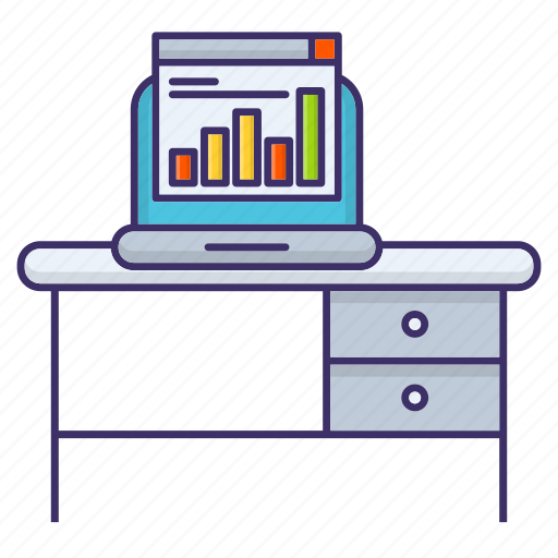 Analysis, desk, office, workplace icon - Download on Iconfinder