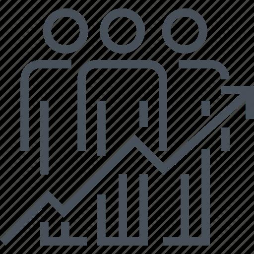 achievement, business, development, occupation, statistics, success, team efficiency icon