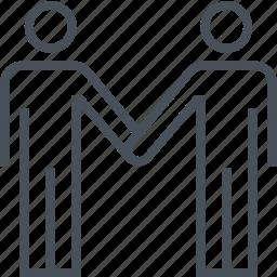 couple, hand shake, handshake, men, salute icon