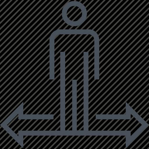 achievement, businessman, career, decision, directions icon