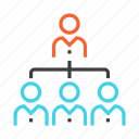 business, management, people, presentation, staff, users icon