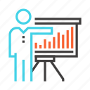 analysis, analytics, chart, growth, presentation, report, statistics icon