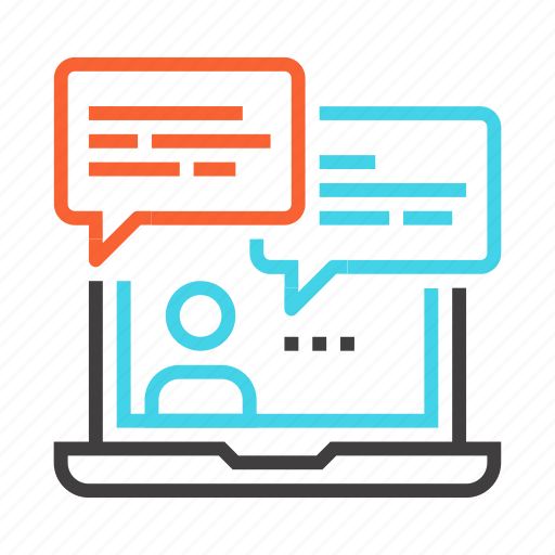 chatting, communication, consulting, conversation, interaction, online icon