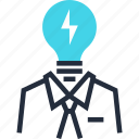 business, light, idea, solution, imagination, brainstorming, bulb icon