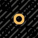 centralized, company, model, organize, structure icon
