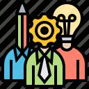 brainstorm, intelligence, responsibility, skills, team
