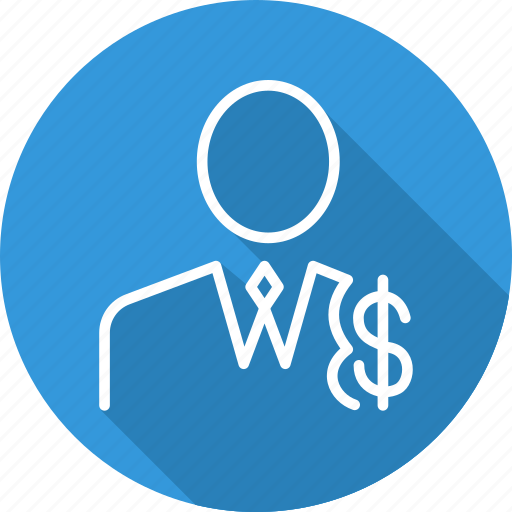business, employee, modern, wages icon