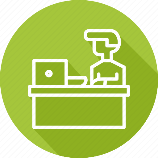 business, desk, modern, personal icon