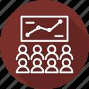 business, modern, seminar, training icon