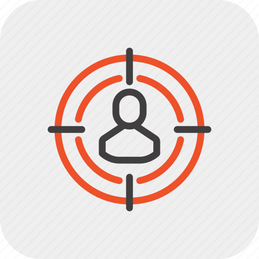 audience, goal, marketing, person, recruitment, social, target icon