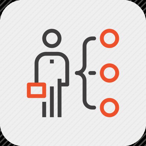 abilities, employee, job, person, recruitment, skills, staff icon