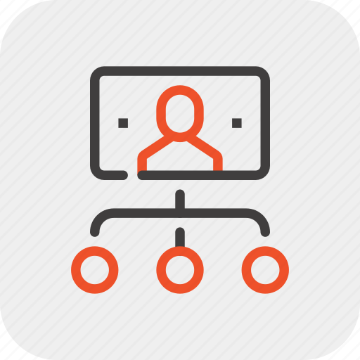 business, hierarchy, leadership, management, organization, structure, team icon