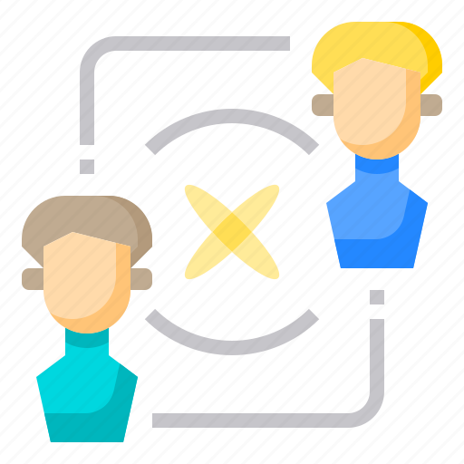 Brainstorming, communication, conference, diversity, office, rotation, working icon - Download on Iconfinder