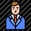 avatar, business, chairman, man, president icon