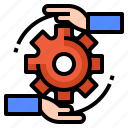 development, management, motivate icon