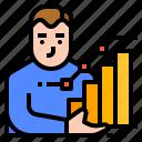 chart, investment, stock, stockholder icon