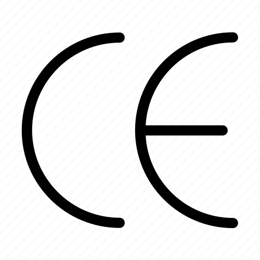 ce, cosmetic, marking, symbols icon