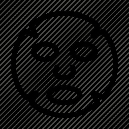 cosmetic, face, facial, mask, sheet, symbols icon