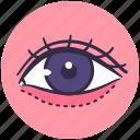 dolly, eye, organ, plastic, surgery icon