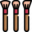 art, beauty, brush, color, cosmetics, makeup, paint icon